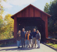 Red covered bridge, Stowe Vermont
